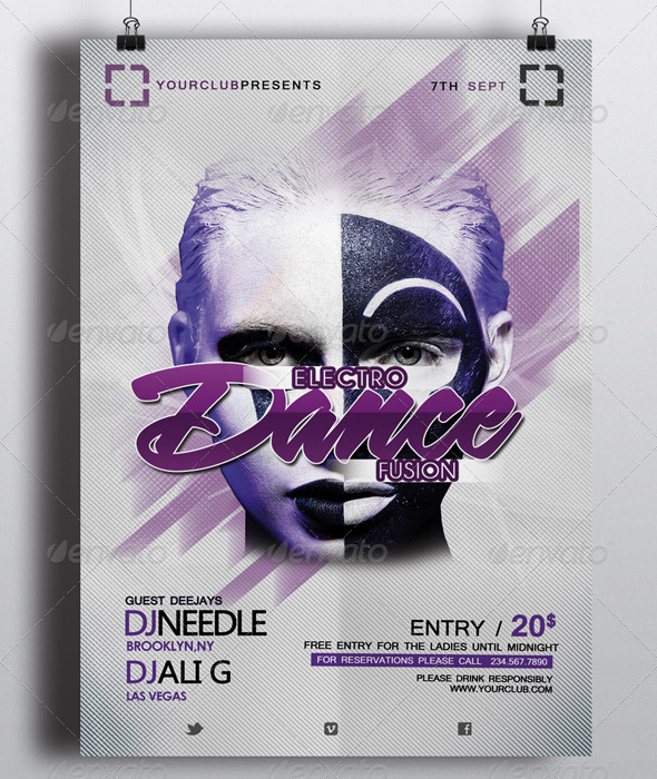 GraphicRiver Electro Dance Fusion Event Flyer 5452208