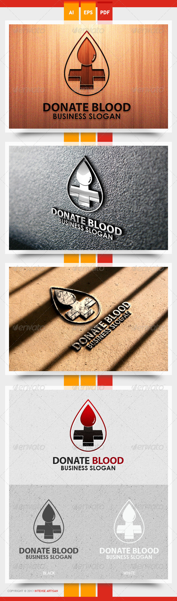 GraphicRiver Donate Blood Logo Template 5472617