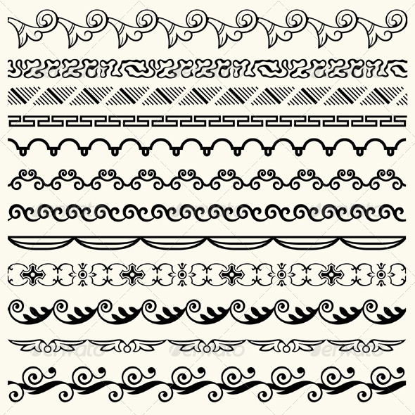 GraphicRiver Design Horizontal Elements 5472894