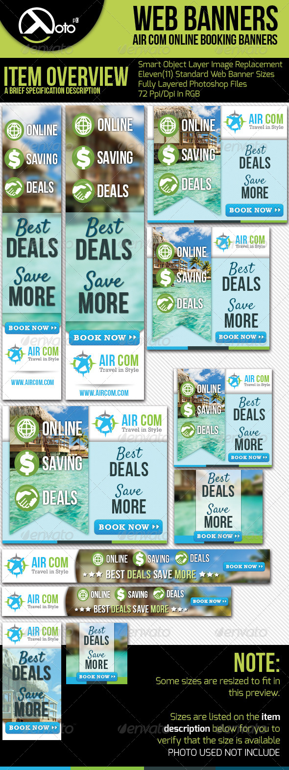 GraphicRiver Online Booking Travel Web Banner 5473082
