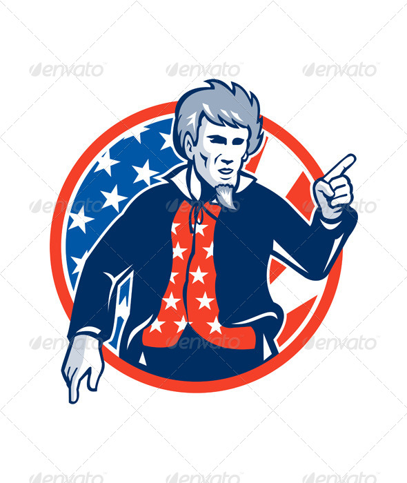 GraphicRiver Uncle Sam American Pointing Finger Retro 5473824