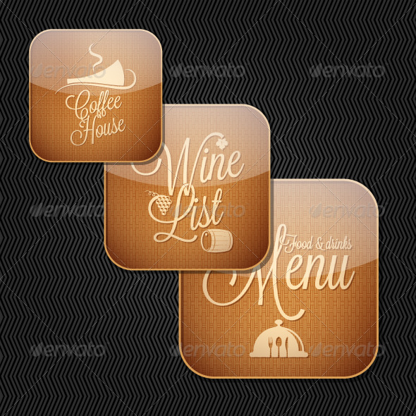 GraphicRiver Food and Drinks Menu Icon Set 5474059