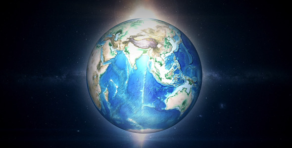 VideoHive Earth Rotate Light 5474185
