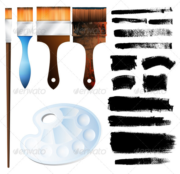 GraphicRiver Painting Equipment 5474265