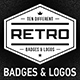 10 Retro Badges & Logos Vol.1 - GraphicRiver Item for Sale