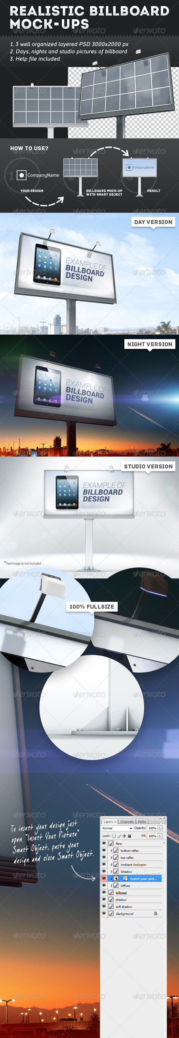 GraphicRiver Realistic Billboard Mock-Ups 5458404