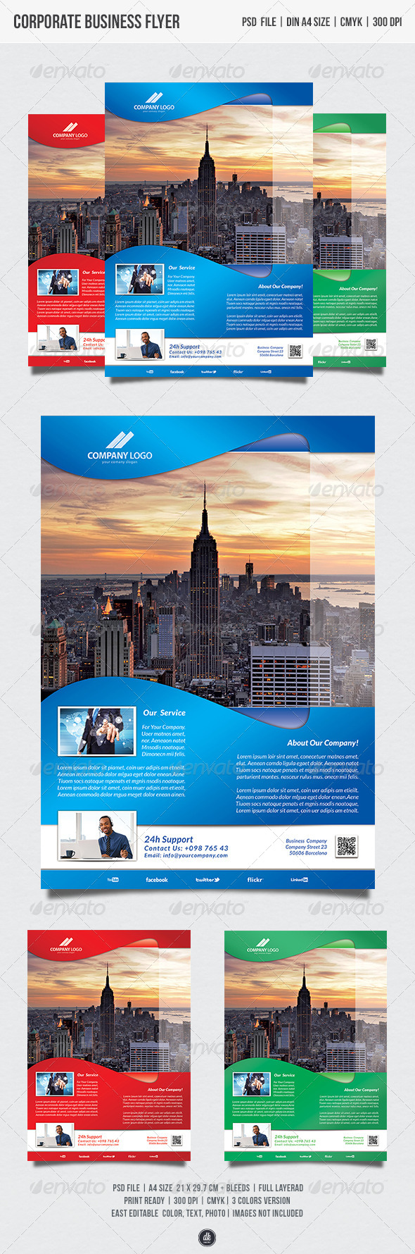 GraphicRiver Corporate Business Flyer 5474491