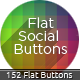 Flat Social Buttons- Social Networks Buttons - GraphicRiver Item for Sale