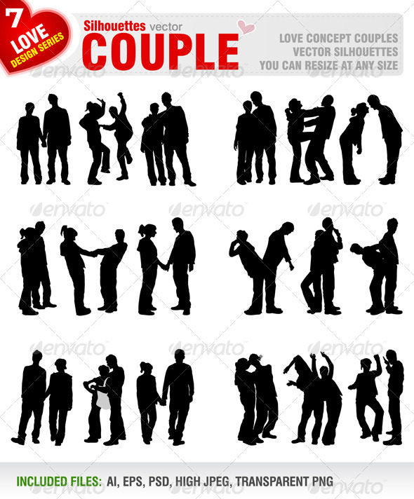 GraphicRiver Couple Silhouettes 5474647