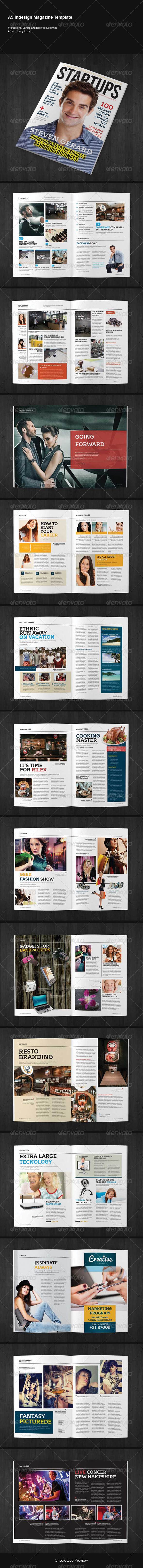 GraphicRiver Indesign Magazine Template 5474768