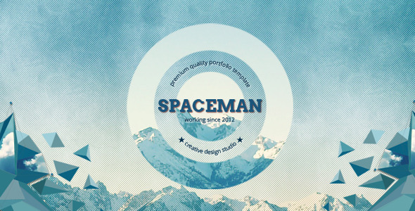 Spaceman - Parallax Design Studio Template - Portfolio Creative