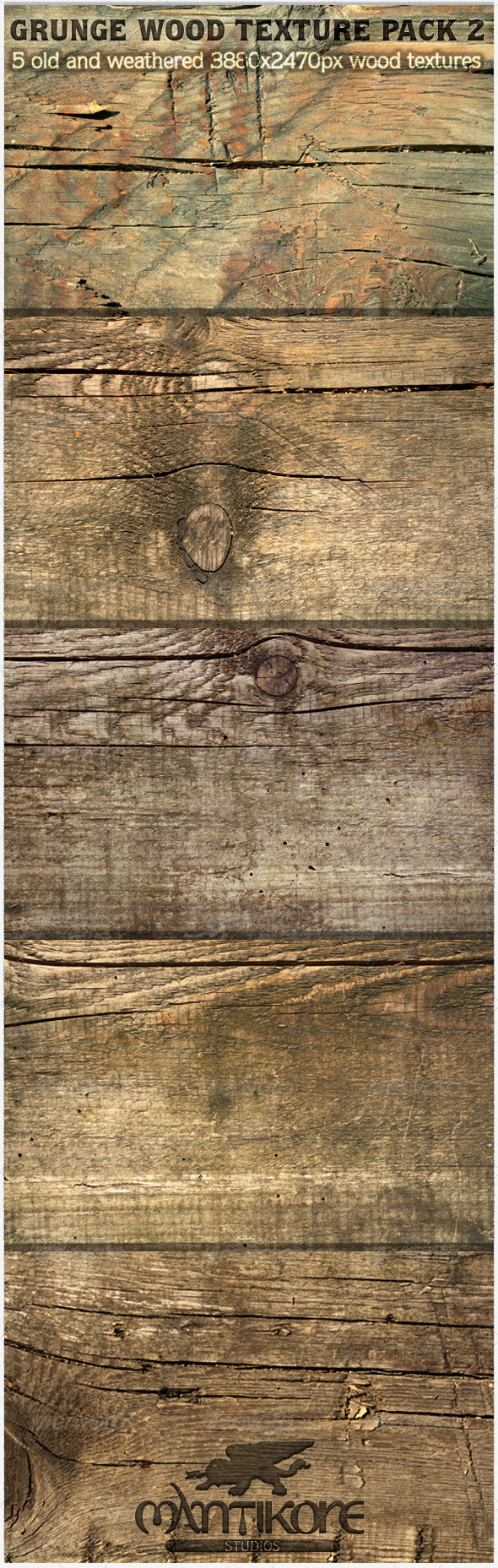 GraphicRiver Grunge Wood Texture Pack 2 5474826