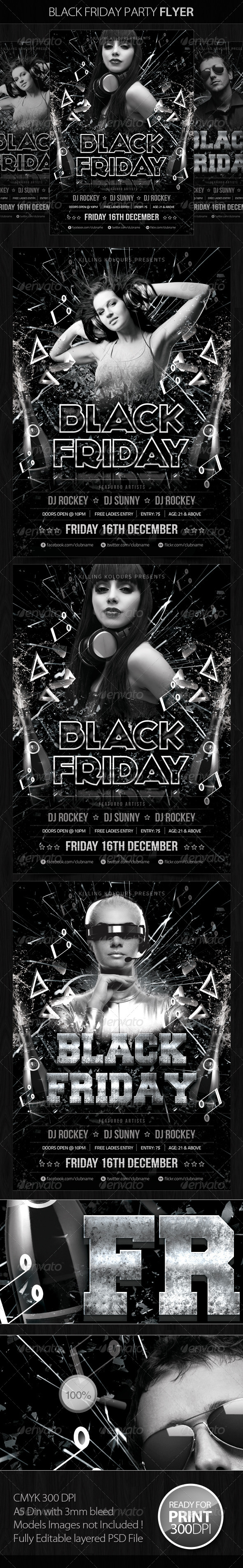 GraphicRiver Black Friday Party Flyer 5474829
