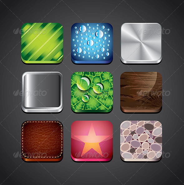 GraphicRiver Texture Backgrounds for App Icons 5460451