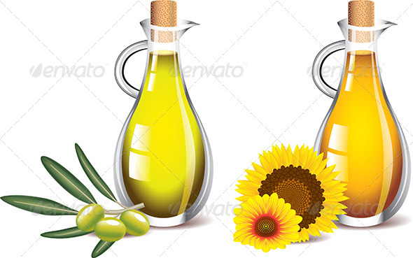 GraphicRiver Olive and Sunflower Oils 5460092