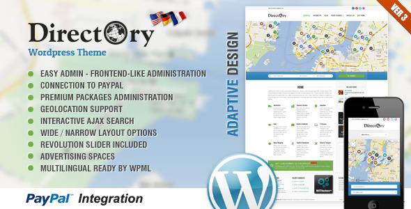 Theme de WordPress Directory Portal