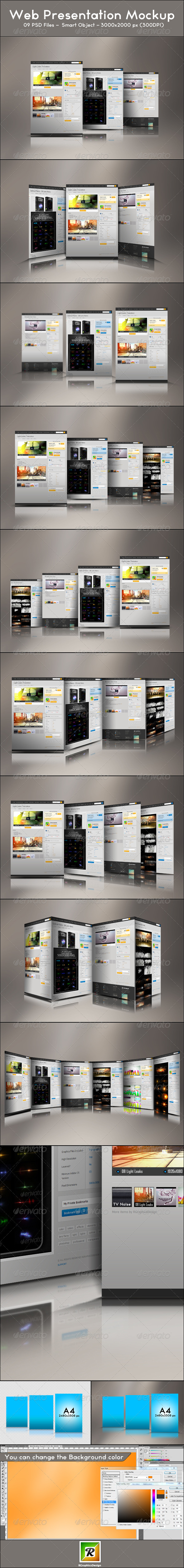 GraphicRiver Web Presentation Mockup 5458446