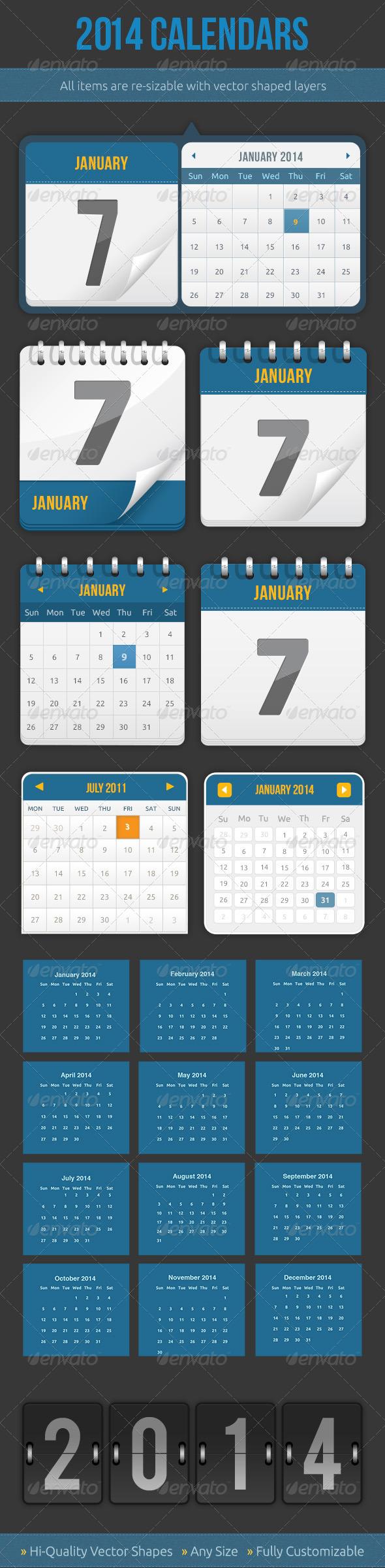 Calendars - Graphics