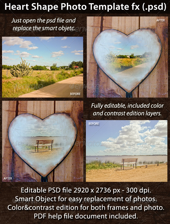 GraphicRiver Heart Shape Photo Template FX 5455232