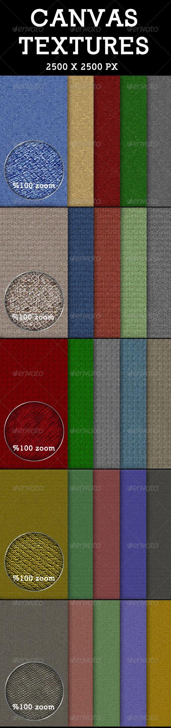GraphicRiver Canvas Textures 5475806