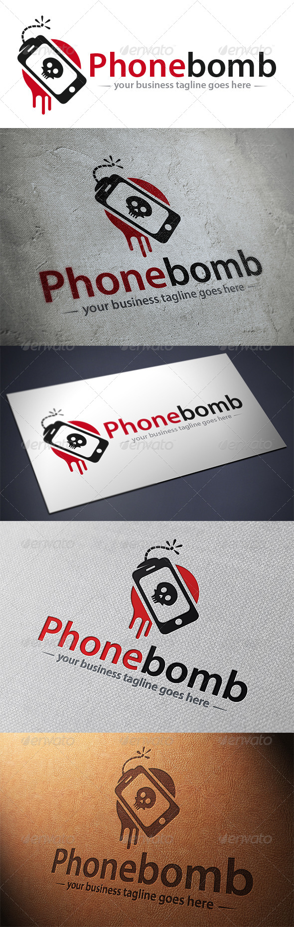 GraphicRiver Phone Bomb Logo 5475807