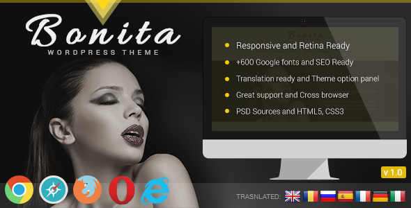 ThemeForest Bonita Responsive WordPress Theme 5466207