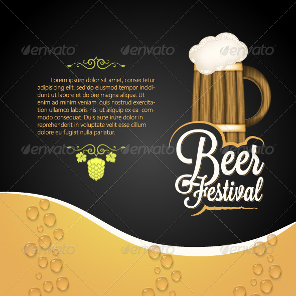 GraphicRiver Holiday Frame Happy Beer Festival 5469548