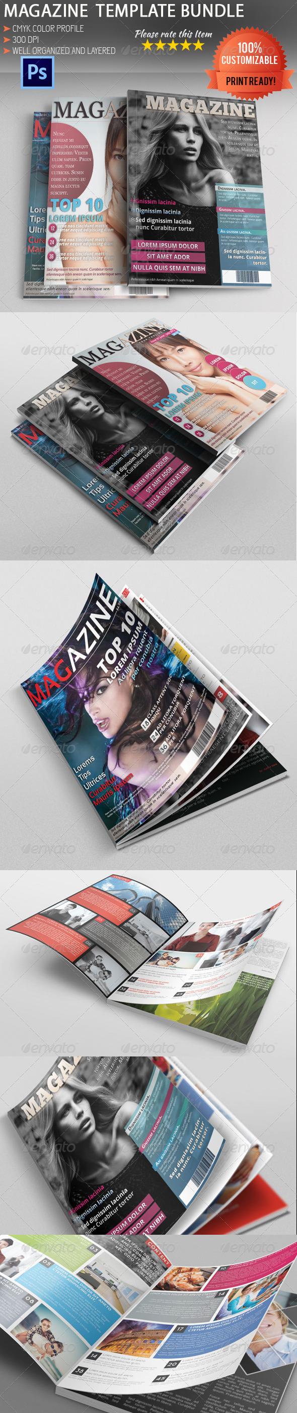 GraphicRiver Magazine Template Bundle 5476076