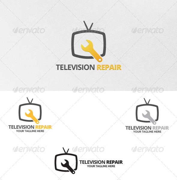 GraphicRiver Television Repair Logo Template 5476080