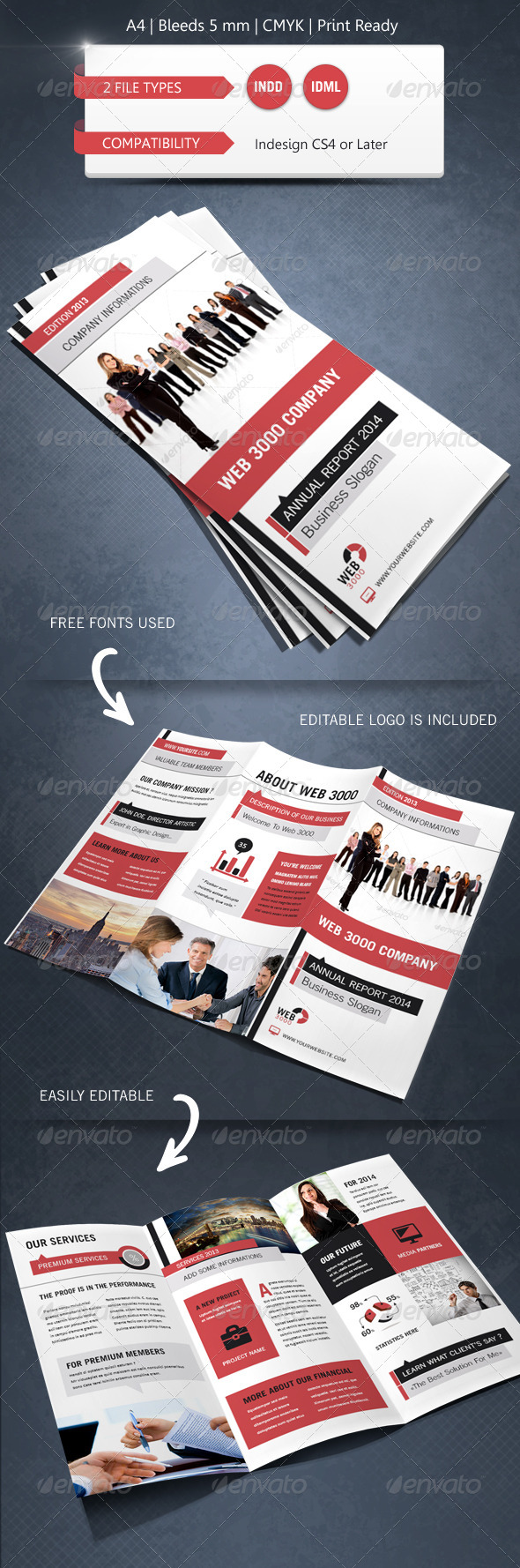 GraphicRiver Modern & Corporate Trifold Brochure Template 5476088