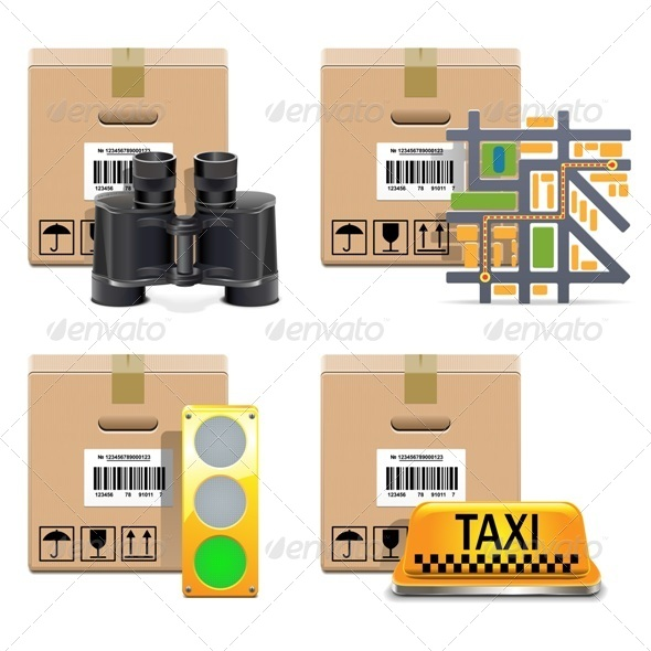 GraphicRiver Vector Shipment Icons Set 5476116
