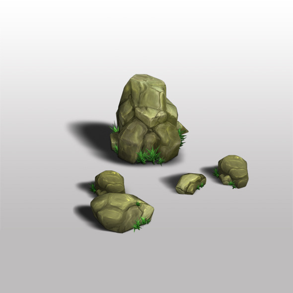 Rocks Low Poly - 3DOcean Item for Sale