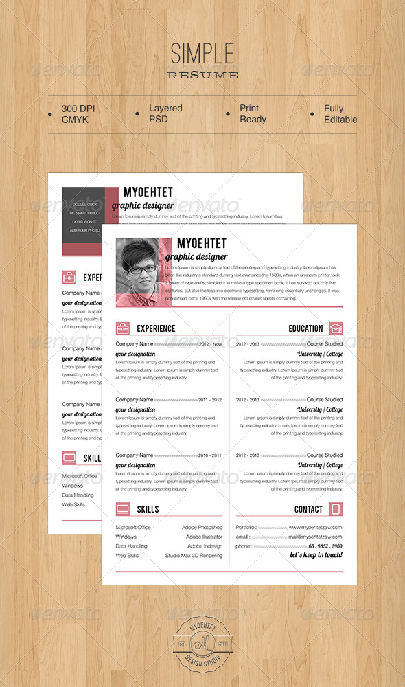 GraphicRiver Simple Resume 5476202