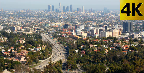 VideoHive Los Angeles from Mulholland Drive 5476203