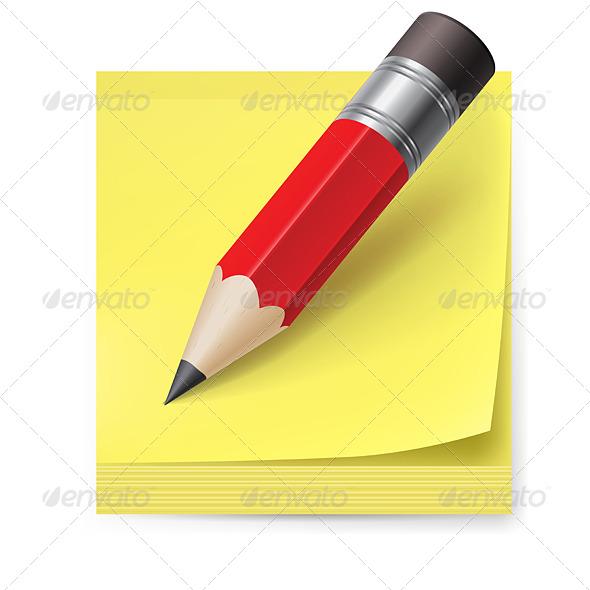GraphicRiver Sticker and Pencil 5476275