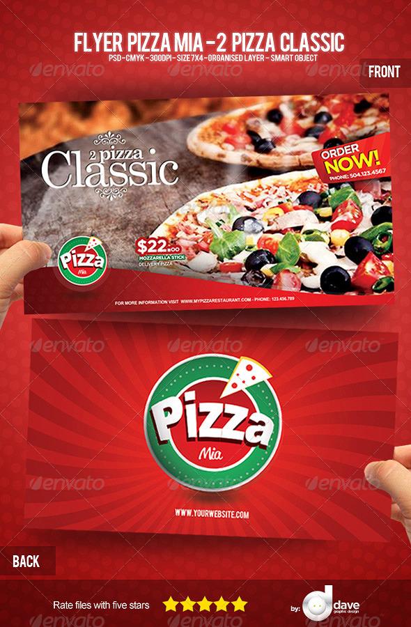 GraphicRiver Flyer Pizza Mia 2 Pizza Classic 5457117