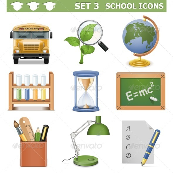 GraphicRiver Vector School Icons Set 5476282