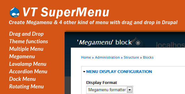 CodeCanyon VT Supermenu Drupal 7 Megamenu 5476288