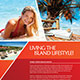 Island Lifestyle Vacation Flyer Template - GraphicRiver Item for Sale