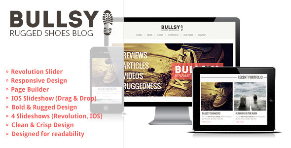 Bullsy - A Rugged & Bold Responsive Blog Theme