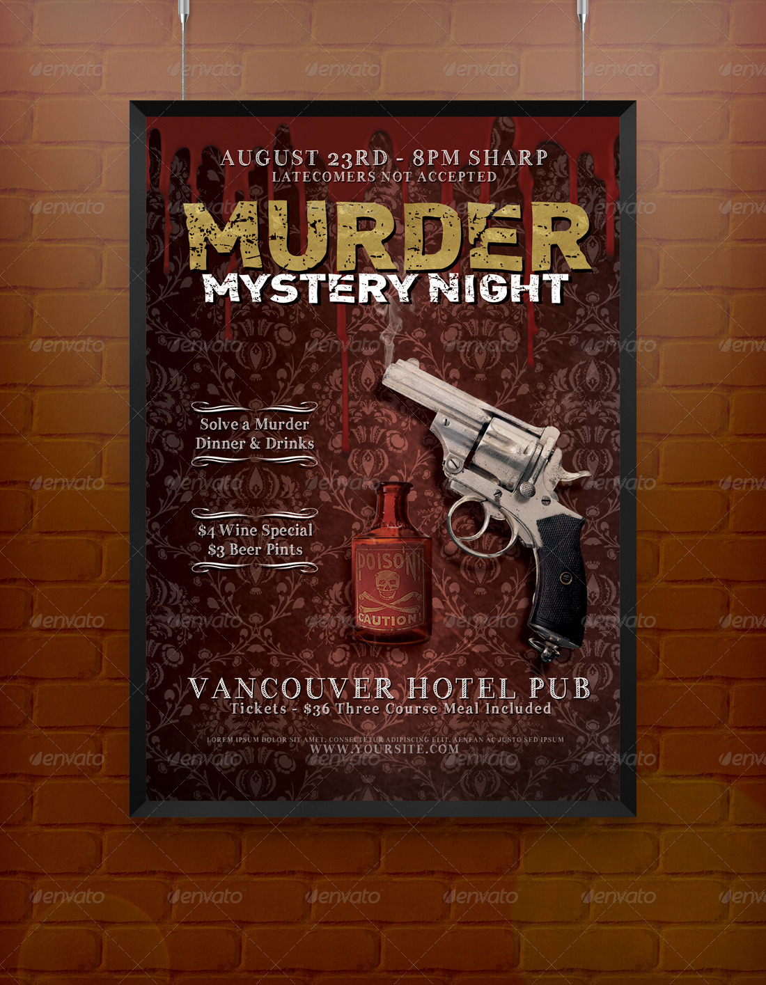 murder mystery night flyer poster templates by jamieedwards murder mystery night flyer poster templates