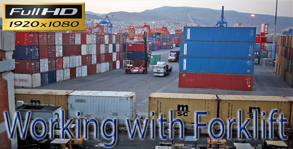 VideoHive Working With Forklift 5476619