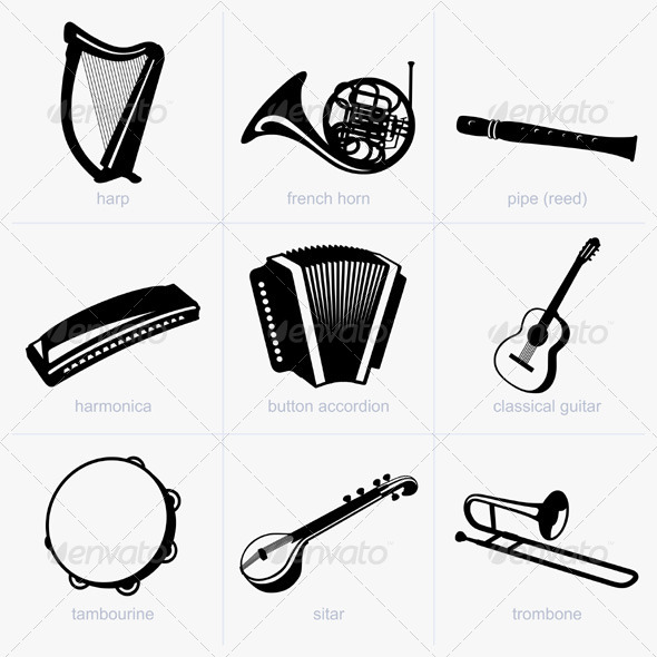GraphicRiver Musical Instruments 5476673