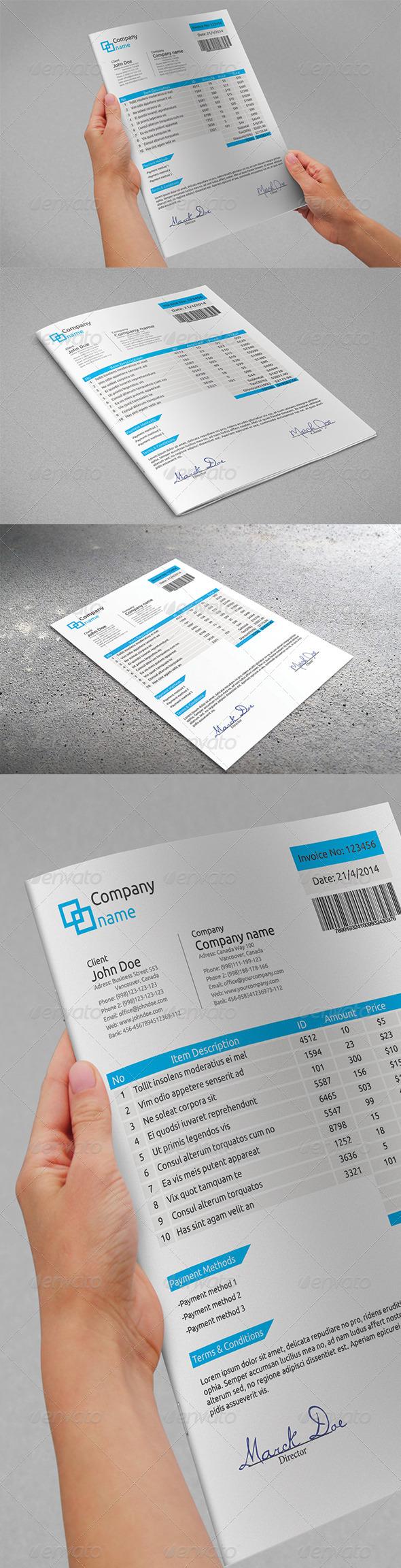 GraphicRiver Favorite Invoice 5458141