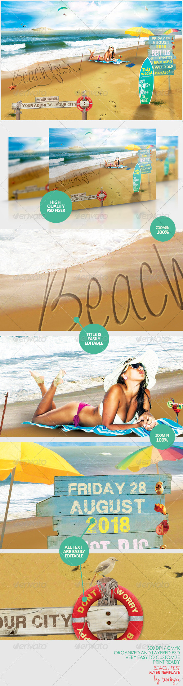 GraphicRiver Beach Fest Flyer Template 5476816
