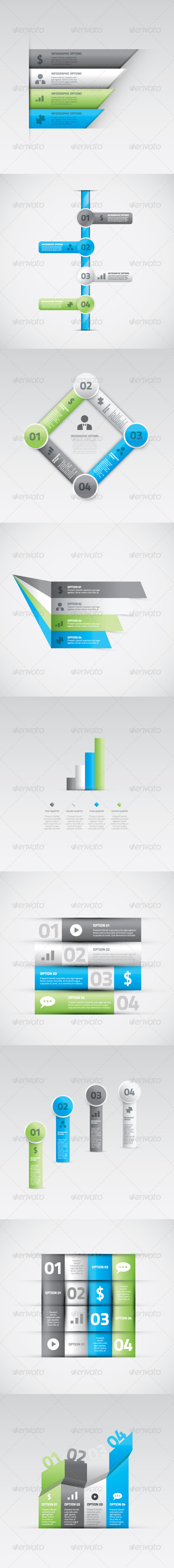 GraphicRiver Big vector set of infographic option elements 5476929