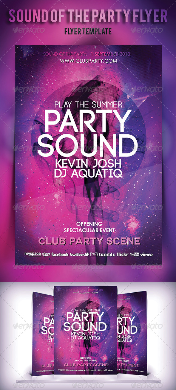 Sound of The Party Flyer - Print Templates