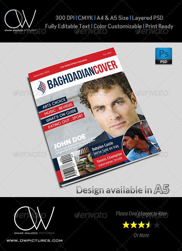 GraphicRiver News Magazine Cover Template 5477409