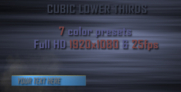 VideoHive Cubic Lower Third 5477445