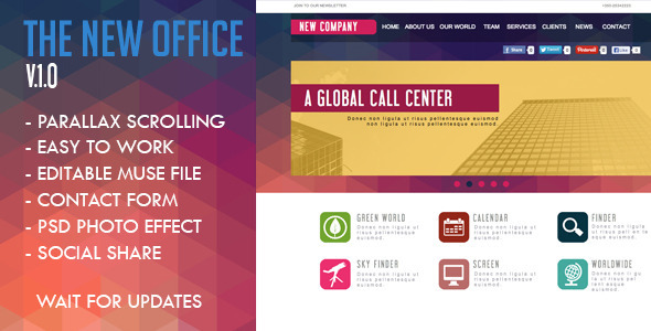ThemeForest The New Office Muse Template 5471699